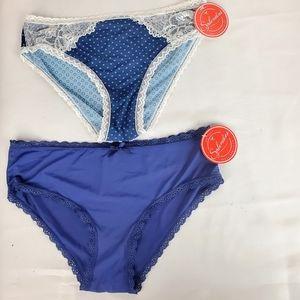 NWT Splendies Underwear briefs panty lace details